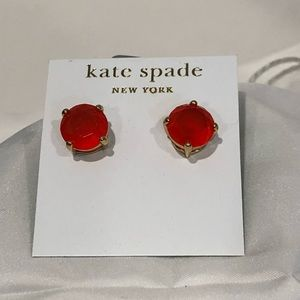 Kate Spade gumdrops orange post earrings.